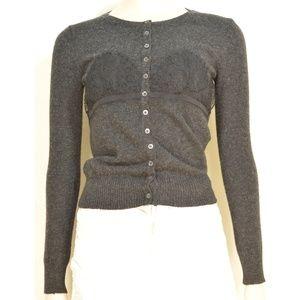 Dolce & Gabbana sweater SZ S cardigan lace gray ca